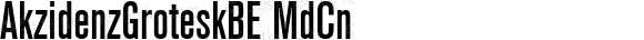 AkzidenzGroteskBE MdCn Macromedia Fontographer 4.1.5 1/02/05