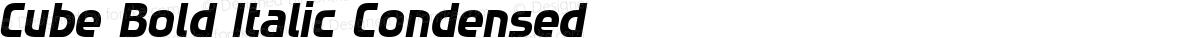 Cube Bold Italic Condensed