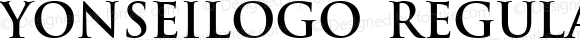 YonseiLogo Regular Macromedia Fontographer 4.1.4 2001.8.29