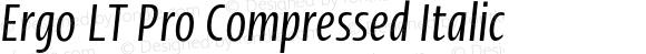 Ergo LT Pro Compressed Italic