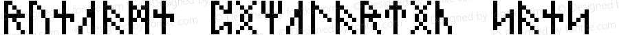 RuneAMN_PixelArtic_sans_5x8_b0 Regular Version 1.20170510