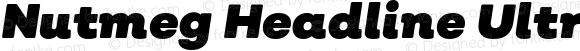 Nutmeg Headline Ultra Black Italic