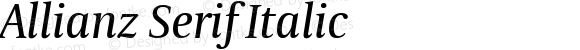 Allianz Serif Italic Version 1.00