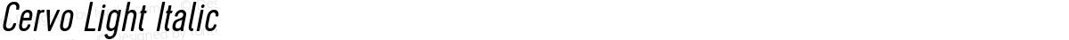 Cervo Light Italic