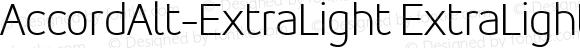 AccordAlt-ExtraLight ExtraLight 001.000
