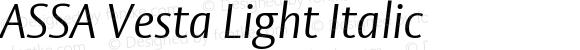ASSA Vesta Light Italic Version 001.003