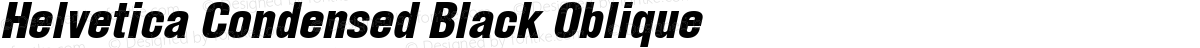 Helvetica Condensed Black Oblique