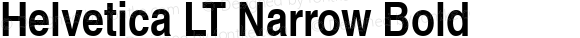 Helvetica LT Narrow Bold