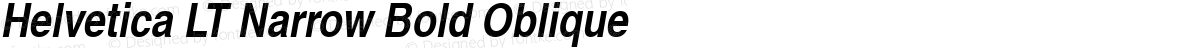 Helvetica LT Narrow Bold Oblique