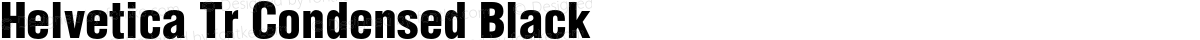 Helvetica Tr Condensed Black