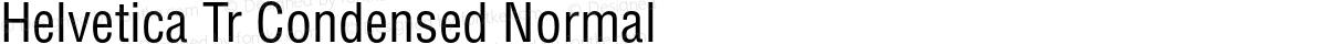 Helvetica Tr Condensed Normal