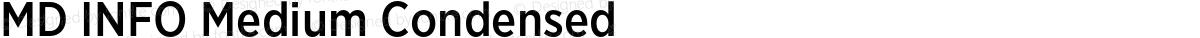 MD INFO Medium Condensed