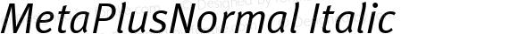 MetaPlusNormal Italic