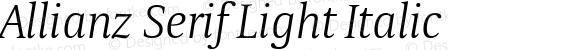 Allianz Serif Light Italic Version 1.00