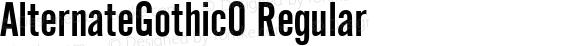 AlternateGothic0 Regular Version 1.00 September 6, 2013, initial release