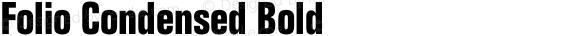 Folio Condensed Bold Version 1.000;PS 1.10;hotconv 1.0.38