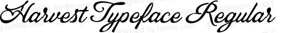 Harvest Typeface Regular