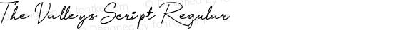 The Valleys Script Regular 001.000