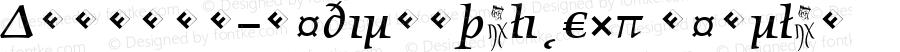 Angkoon-MediumItalicExp Regular Version 4.452 2003