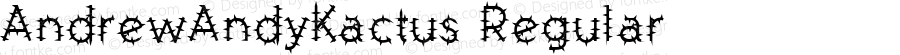AndrewAndyKactus Regular Macromedia Fontographer 4.1.3 7/10/96