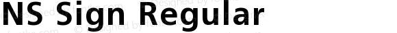 NS Sign Regular Version 001.001
