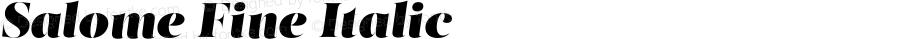 Salome Fine Italic Version 1.000