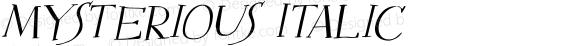Mysterious Italic