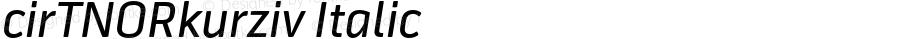cirTNORkurziv Italic OTF 1.000;PS 001.001;Core 1.0.29
