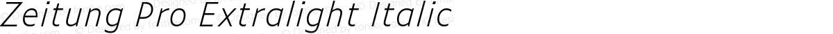 Zeitung Pro Extralight Italic