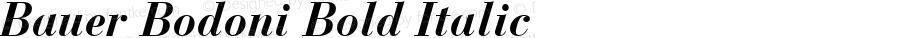 Bauer Bodoni CE Bold Italic