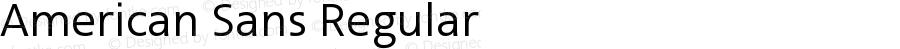 American Sans Regular Version 001.002