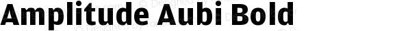 Amplitude Aubi Bold Version 001.001; t1 to otf conv