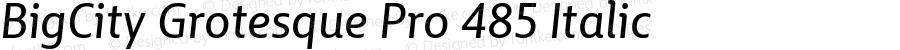 BigCity Grotesque Pro 485 Italic Version 1.0
