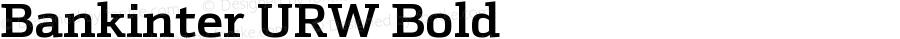 Bankinter URW Bold Version 001.001