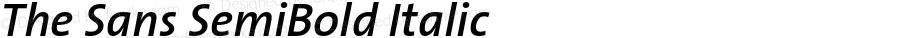 The Sans SemiBold Italic Version 001.003
