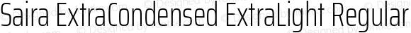 Saira ExtraCondensed ExtraLight Regular