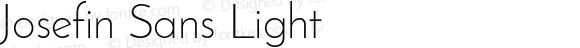 Josefin Sans Light Version 1.0