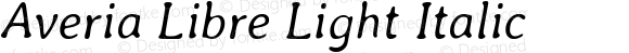 Averia Libre Light Italic