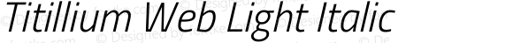 Titillium Web Light Italic