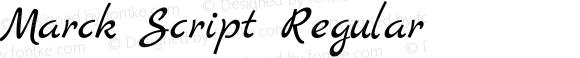 Marck Script Regular