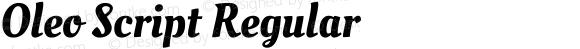 Oleo Script Regular