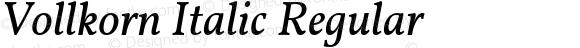 Vollkorn Italic Regular