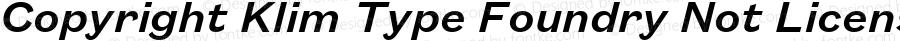 Copyright Klim Type Foundry Not Licensed for Desktop Use Version 1.000;0