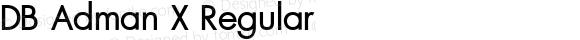 DB Adman X Regular Version 3.200