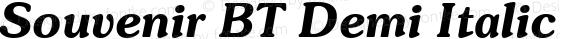 Souvenir BT Demi Italic