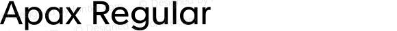 Apax Regular Version 1.000