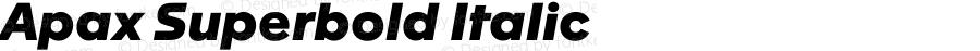 Apax Superbold Italic Version 1.000