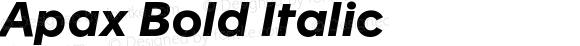 Apax Bold Italic Version 1.000