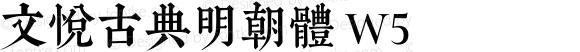 文悦古典明朝体 W5