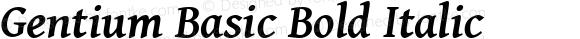Gentium Basic Bold Italic